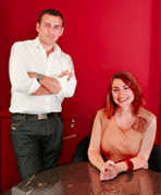 Jérôme Caillet and Céline Denis, founders